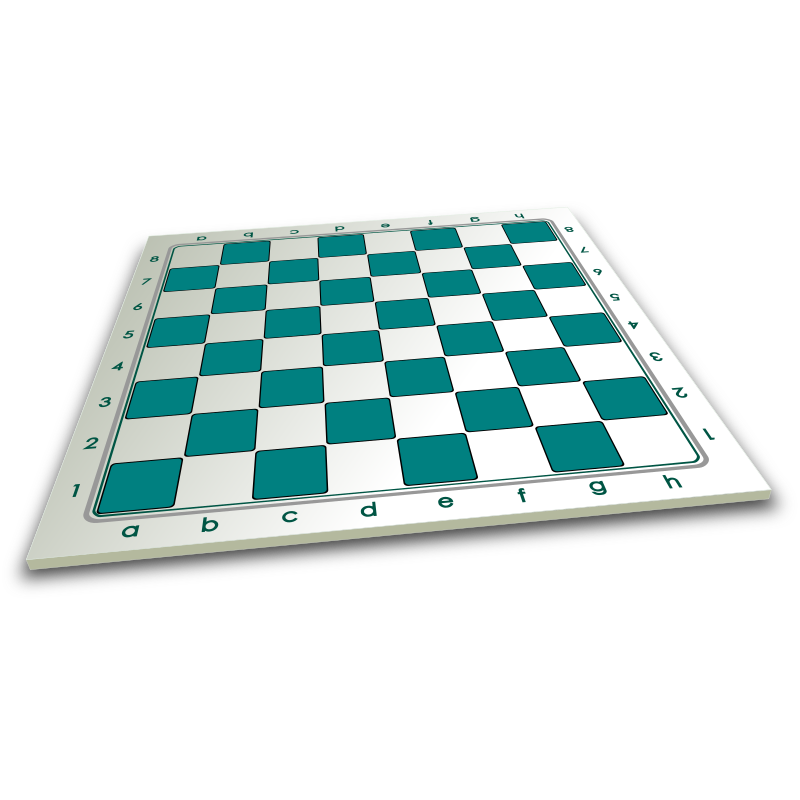 Chessboard in perspective 3D / Tablero en Perspectiva