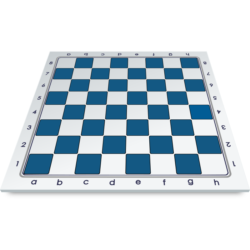 Chess Board in Frontal Perspective / Tablero en Perspectiva Frontal