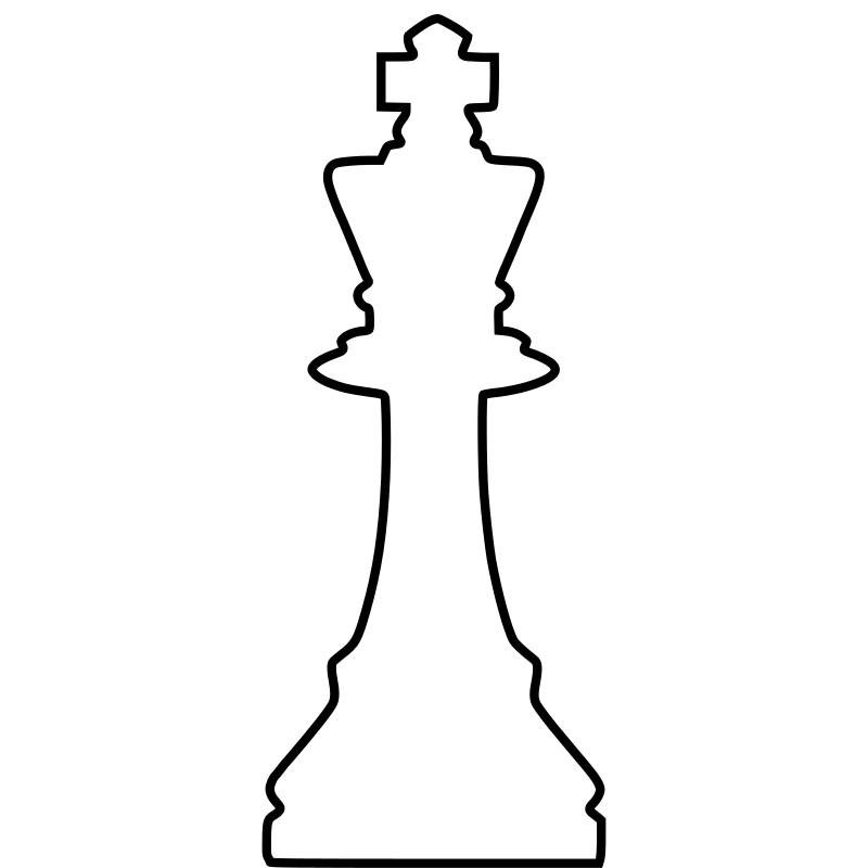 White Silhouette Chess Piece REMIX – King / Rey