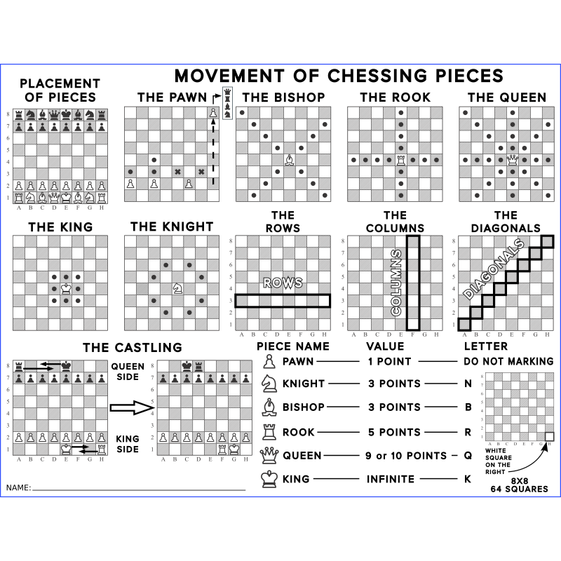 Chess Pieces Movements