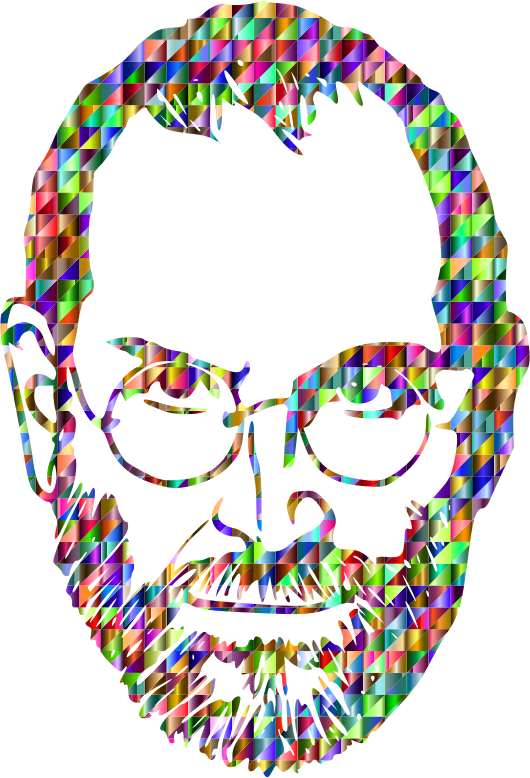 Chromatic Triangular Steve Jobs