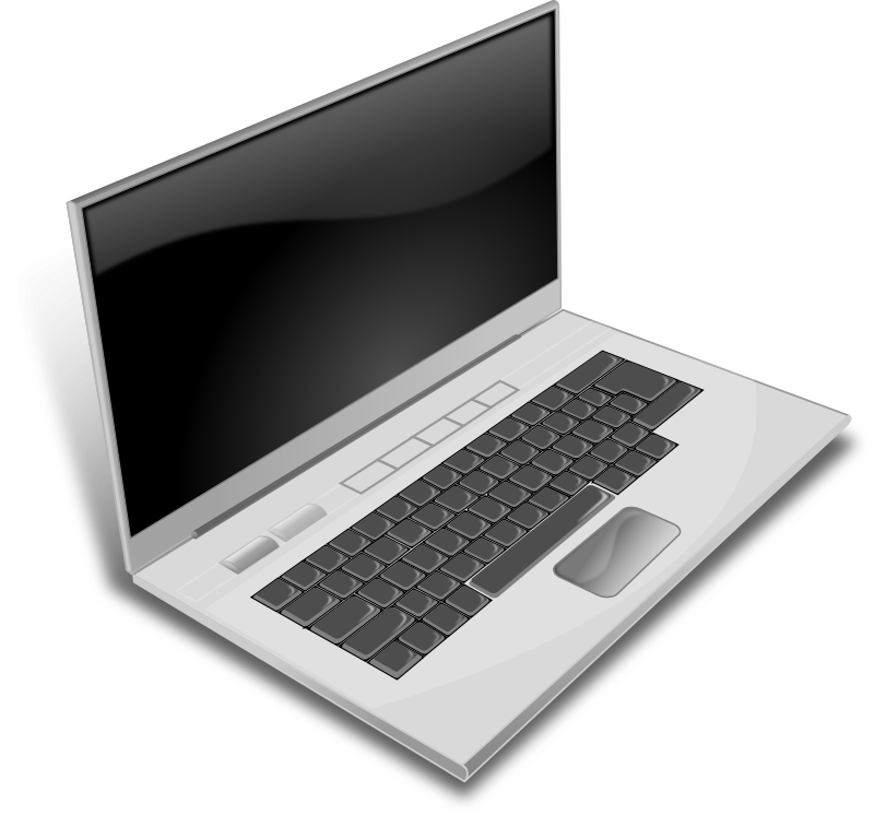 A gray laptop