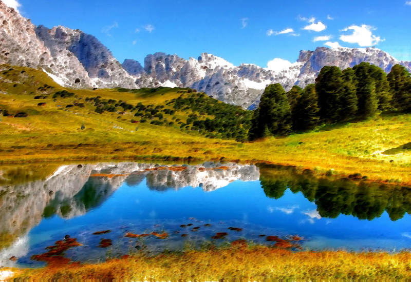 Surreal Italian Alps