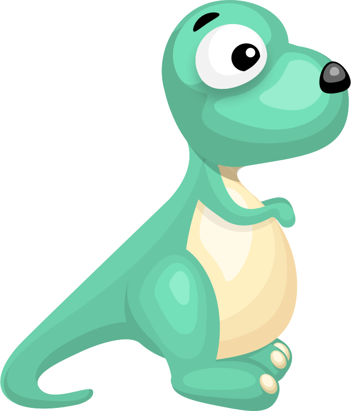 Cartoon dinosaur vector clipart graphics