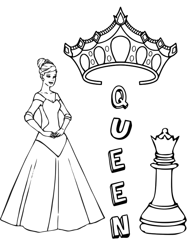 Chess coloring book / Dibujo Ajedrez para colorear -6-