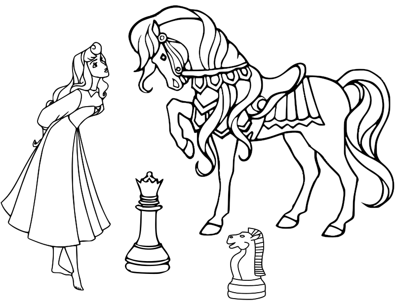 Chess coloring book / Dibujo Ajedrez para colorear -14-