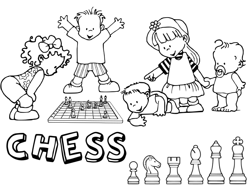 Chess coloring book / Dibujo Ajedrez para colorear -16-