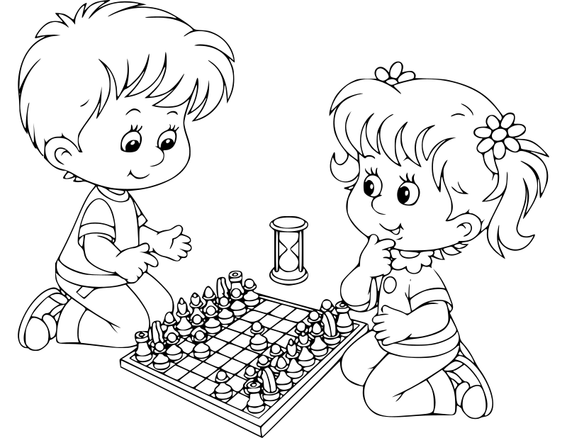 Chess coloring book / Dibujo Ajedrez para colorear -17-