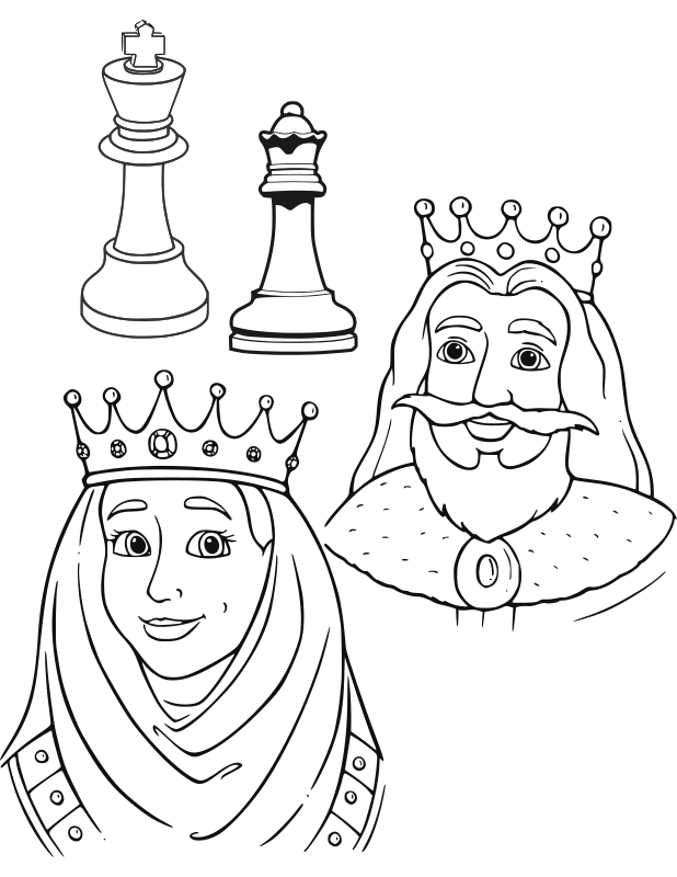 Chess coloring book / Dibujo Ajedrez para colorear -23-