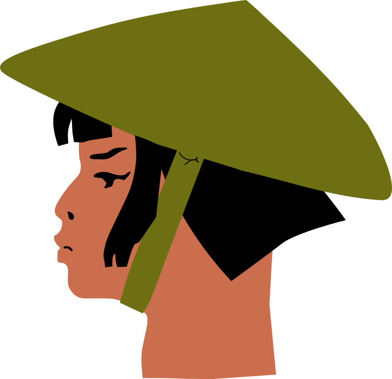 Asian Lady's Head