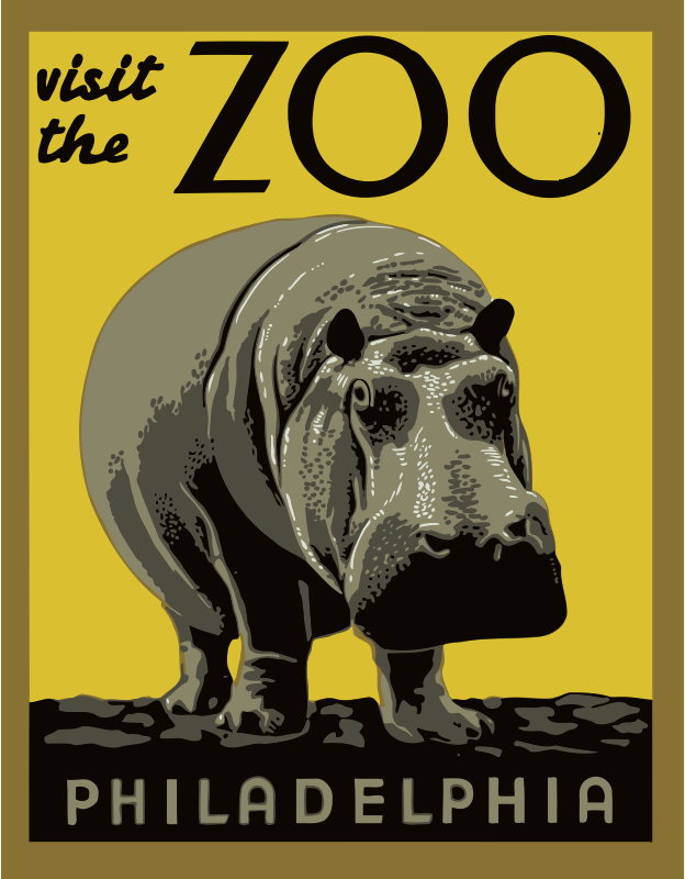 Visit the zoo poster 2