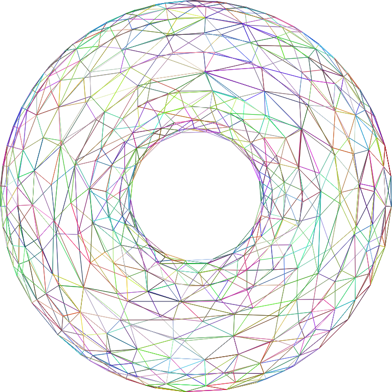 3D Torus Wireframe Prismatic
