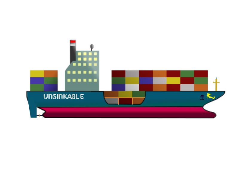 "Containeur Ship ""The UNSINKABLE"""
