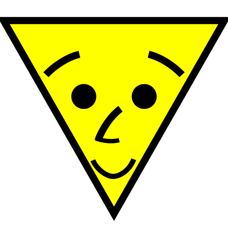 Triangle face smiles