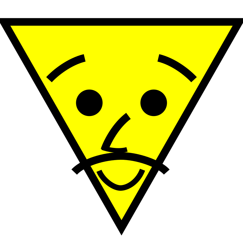 Triangle face with mustache