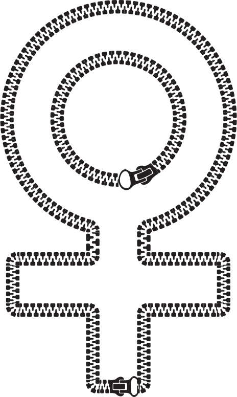 Female Symbol Zipper
