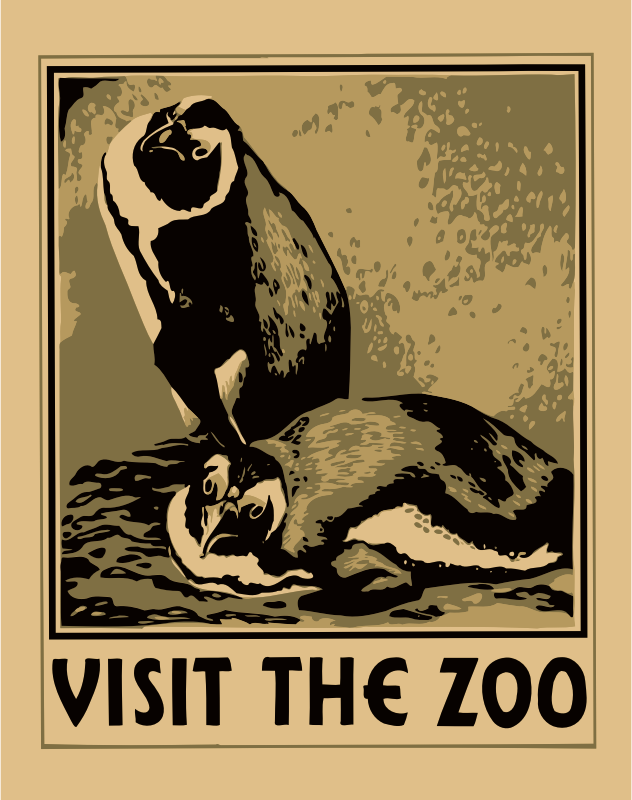 Visit the zoo poster 3
