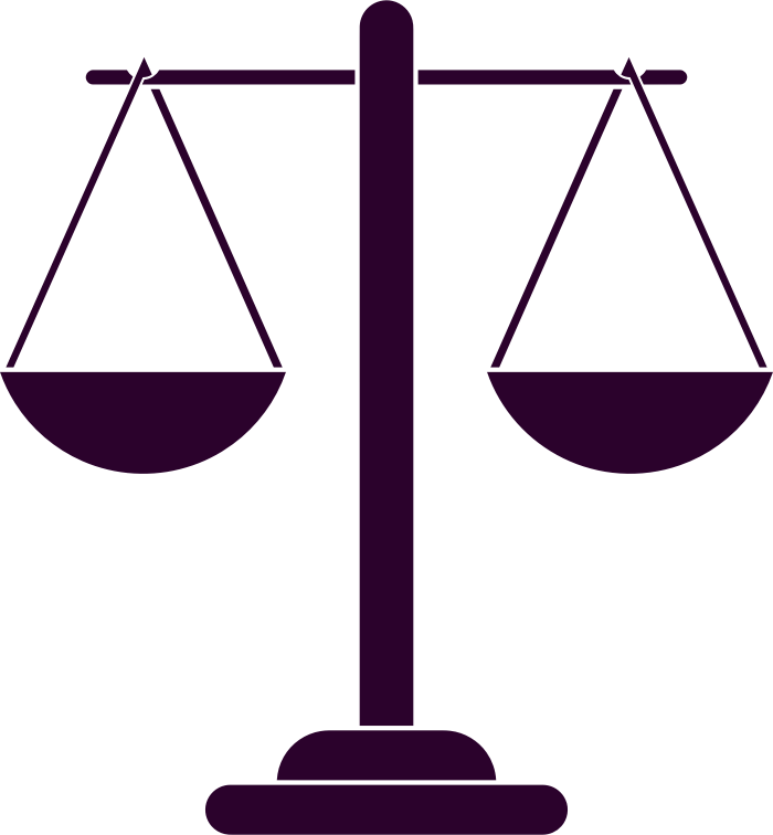 Justice Scales Silhouette 2