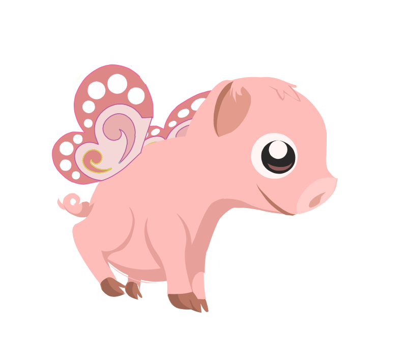Flying piglet Animation