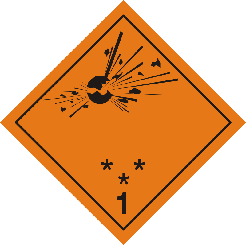 ADR pictogram 1 - Explosives