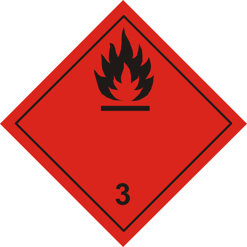 ADR pictogram 3-Flammable liquids
