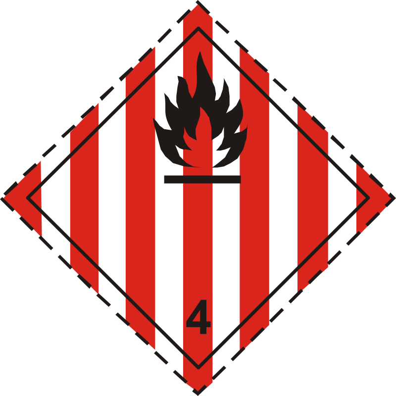 ADR pictogram 4.1-Flammable solids