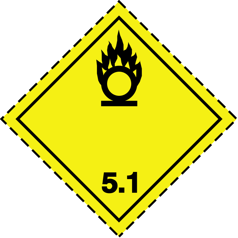 ADR pictogram 5.1-Oxidizers