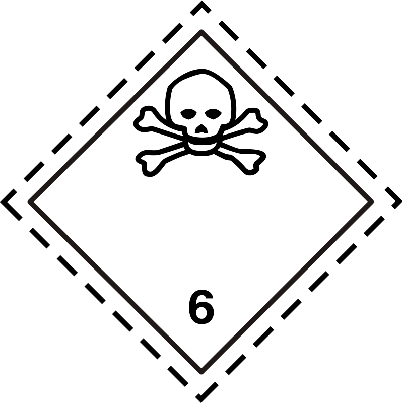 ADR pictogram 6.1-Poison
