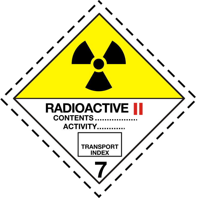 ADR pictogram 7b-Radioactive