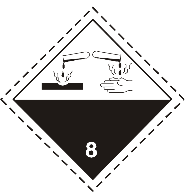ADR pictogram 8-Corrosive