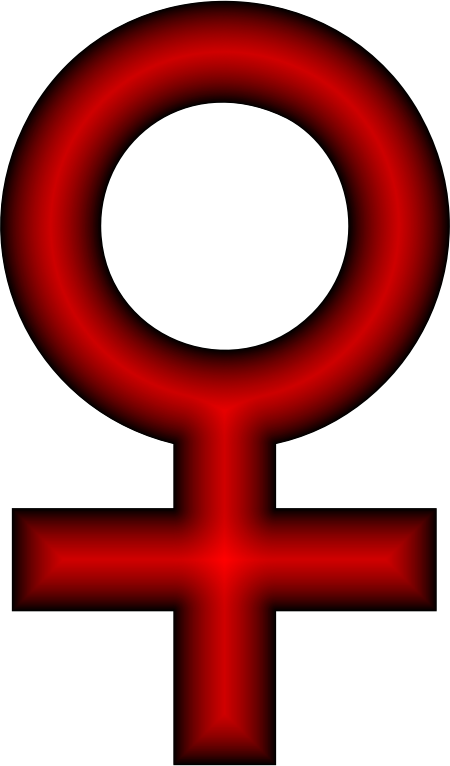 Female Symbol Crimson