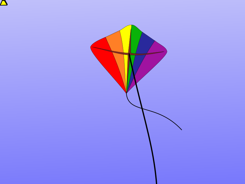 Animation of a flying kite