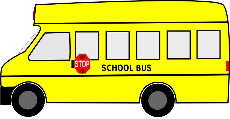 Moving School Bus Animated SVG Clipart Free Download