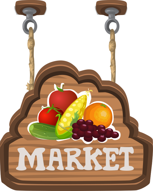 Sign for a fruit & veg market from Glitch
