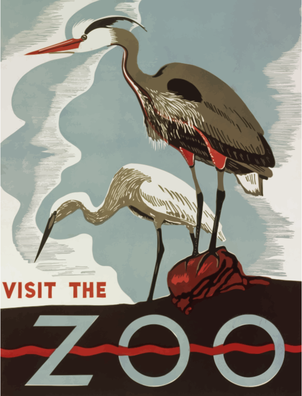 Visit zoo poster 4