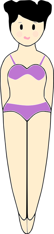 Girl in a Bathing Suit