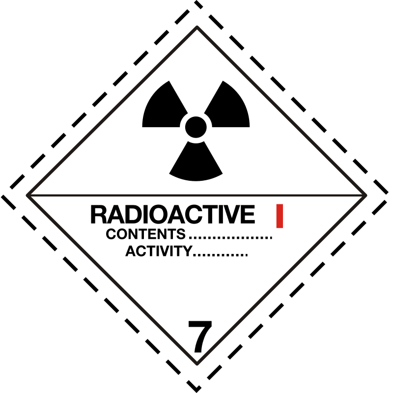 ADR pictogram 7a-Radioactive