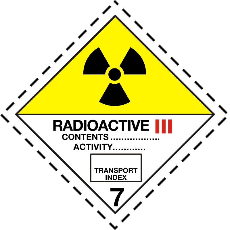 ADR pictogram 7c-Radioactive