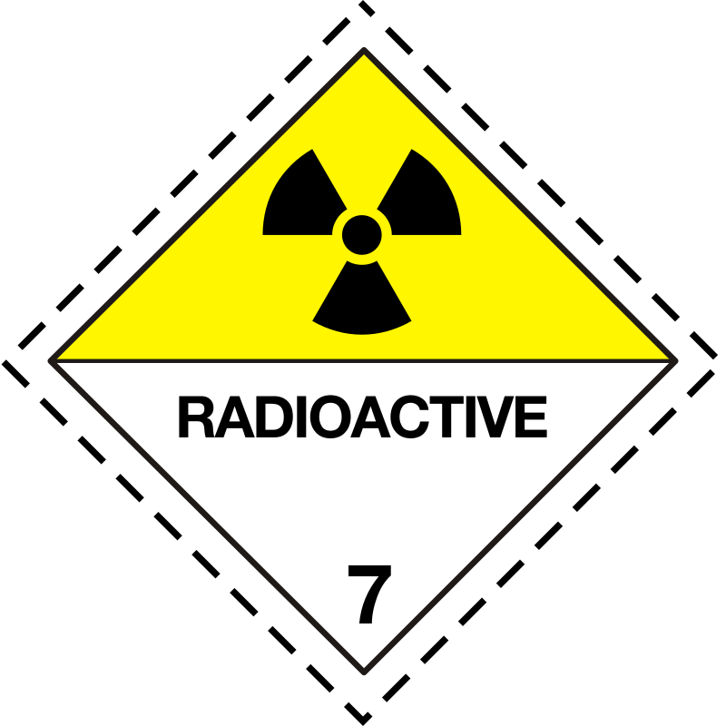 ADR pictogram 7d-Radioactive