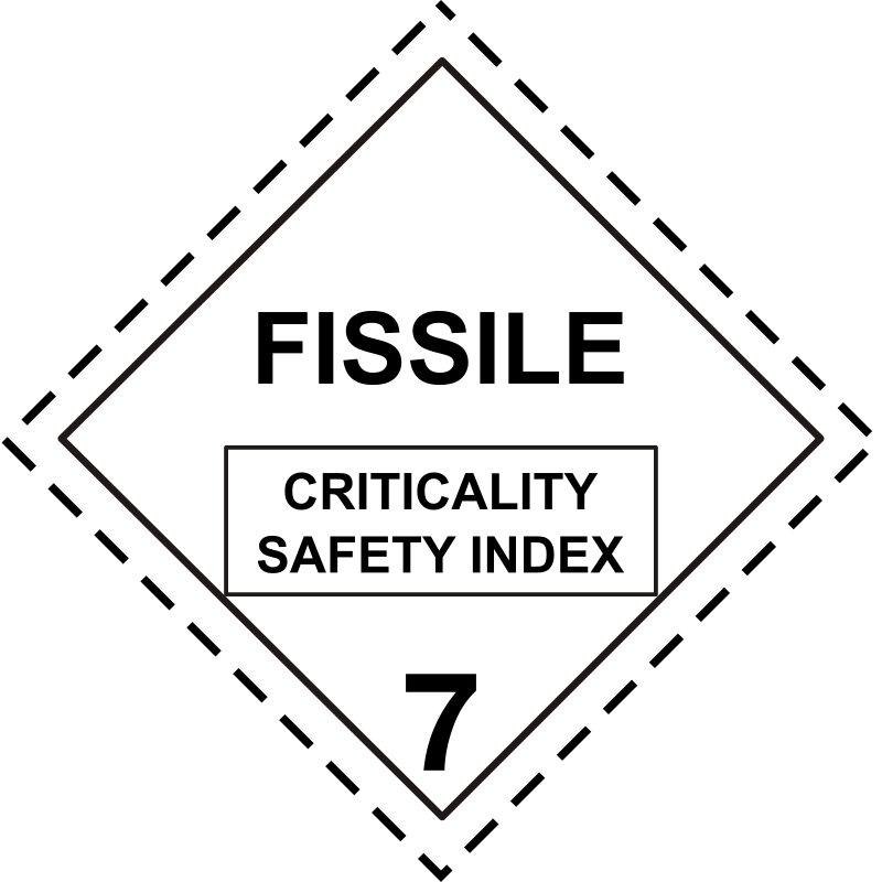 ADR pictogram 7e-Radioactive - fissile