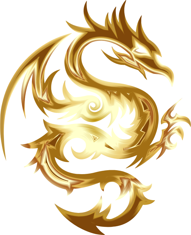 Gold Tribal Dragon 56 No Background