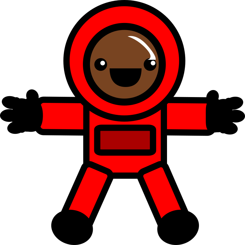 Astronaut - red space suit