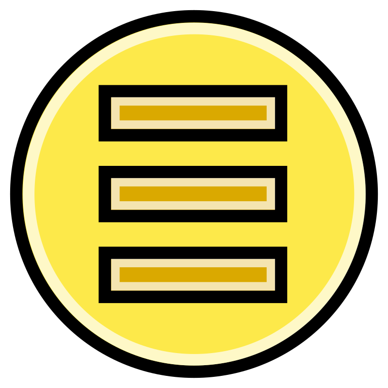 Button - Menu (Yellow)