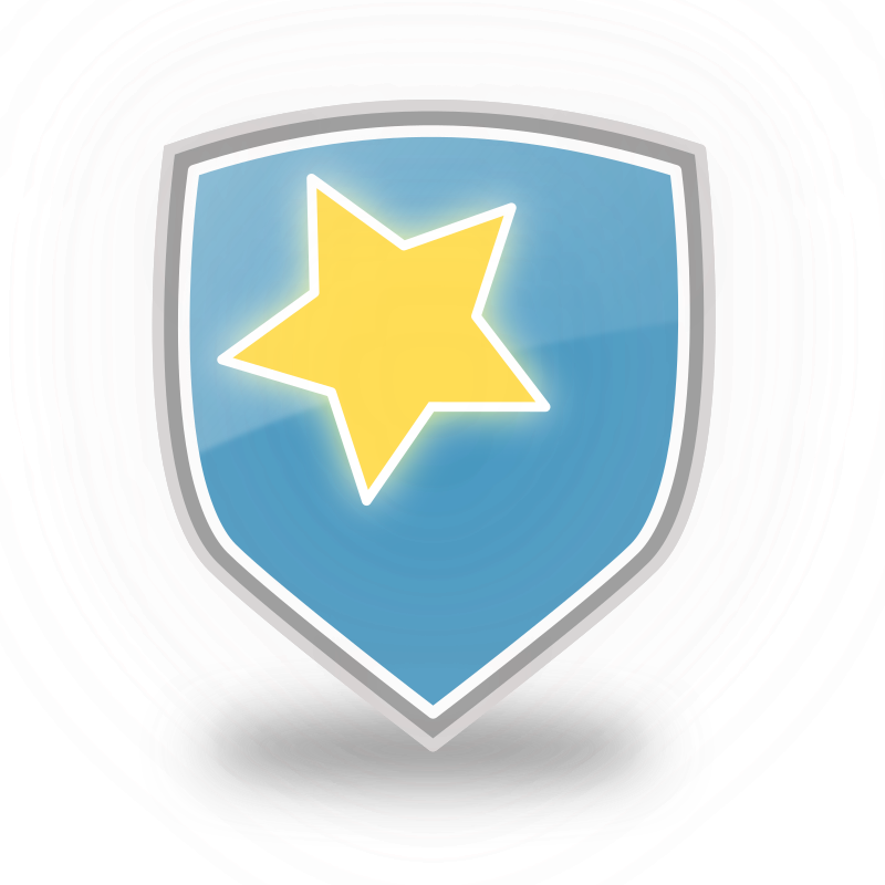 Blue Shield Star Icon