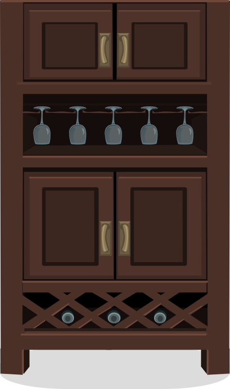 Wine cabinet from Glitch