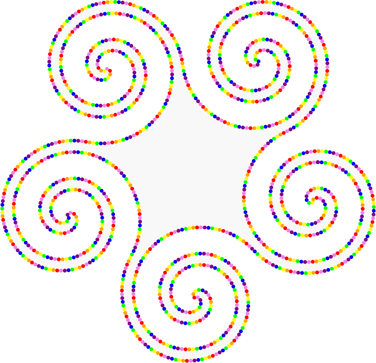 Animated Pentaskelion of Beads