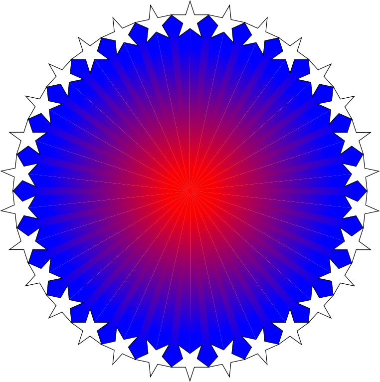 Red White Blue Starburst
