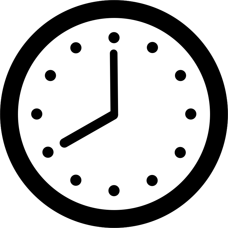 Clock - Rounded Hands and Dots