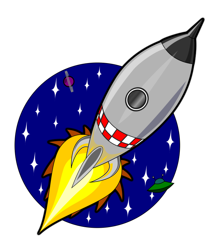 Animation of Kliponius-Cartoon-rocket using JavaScript