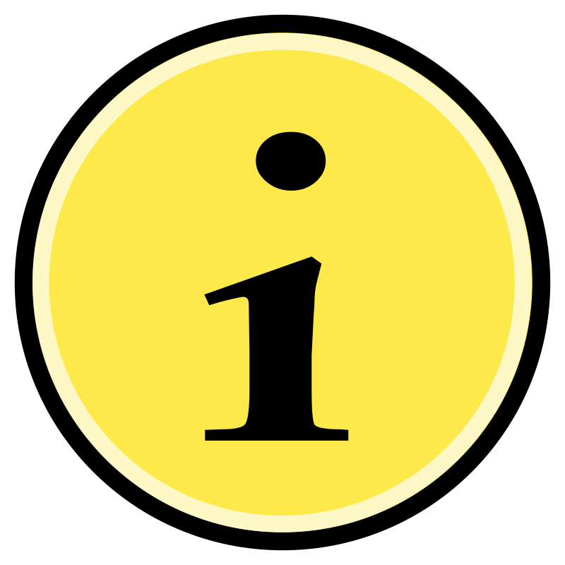 Button - Information (Yellow)